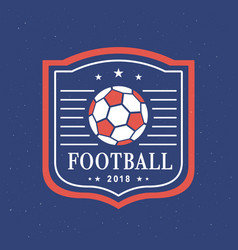 football 2018 logo template set vector image