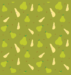 Fruits pear seamless patterns vector