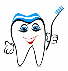Funny tooth vector