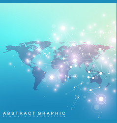Geometric graphic background communication with vector