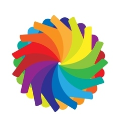 Multicolored abstract circle icon cartoon style vector image vector image