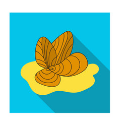 Mussels icon in flat style isolated on white vector