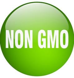 Non gmo green round gel isolated push button vector