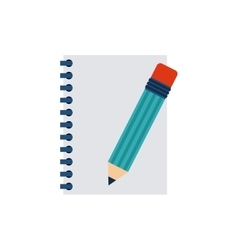 notebook with business icon vector image vector image