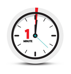 one minute clock icon vector image