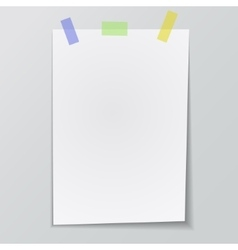 paper sticky tape vector image