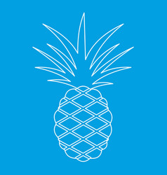 Pineapple icon outline style vector