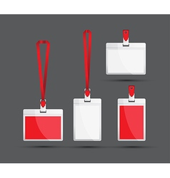 Red lanyards vector