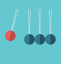 Spheres on threads concept vector