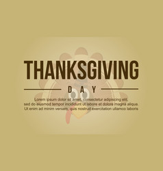 Thanksgiving greeting card style collection vector