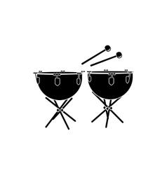 Timpani icon black simple style vector image