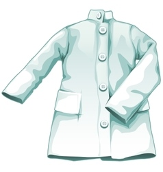 White medical gown working uniform vector