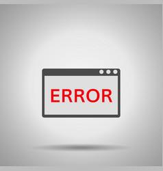 window operating system error vector image