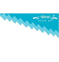World ocean day background vector