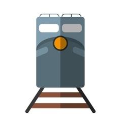 Train rail road mass transit shadow vector