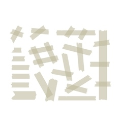 Adhesive tape set vector