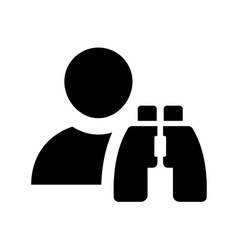 Finding employees icon vector