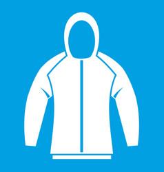 sweatshirt icon white vector image