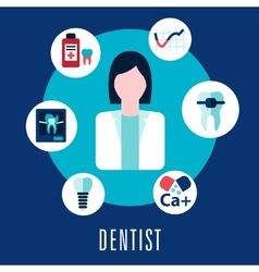Dentist and dentistry concept vector