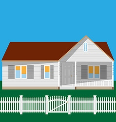 House and fence vector