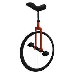 Circus bike vector image