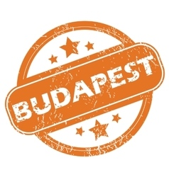 Budapest rubber stamp vector
