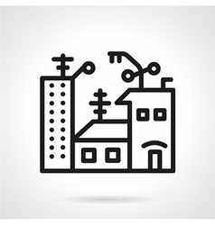 Apartments for sale black line icon vector