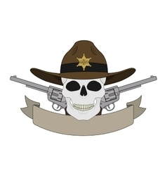 Wild west sheriff emblem vector