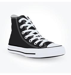 Black sneaker vector