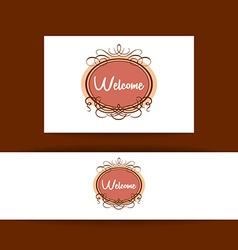 Welcome invitation template vector