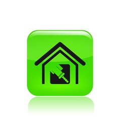 Paint house icon vector