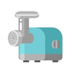 Retro meat grinder front view vector