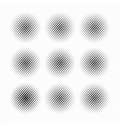 Set of abstract halftone dotted circles vector