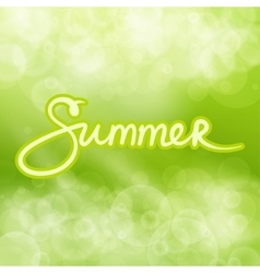 Green abstract background with text summer vector