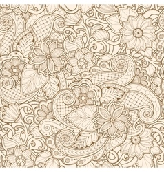 Ornamental seamless ethnic pattern floral vector