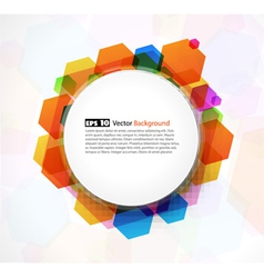 abstract colorful frame vector image