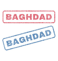 Baghdad textile stamps vector
