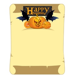 Banner with congratulations happy halloween vector