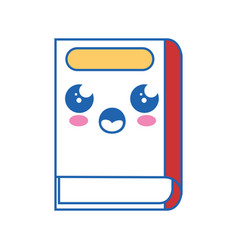 Book kawaii cartoon vector