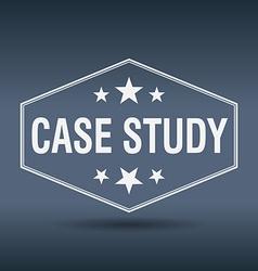 Case study hexagonal white vintage retro style vector