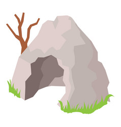 cave icon isometric style vector image