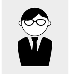 character man elegant executive isolated vector image