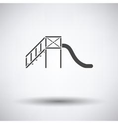 Childrens slide icon vector image