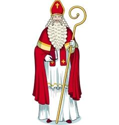 Christmas character sinterklaas colored vector