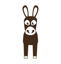 coffee mule animal icon vector image