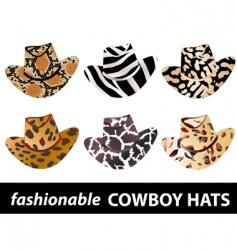 cowboy hats vector image vector image