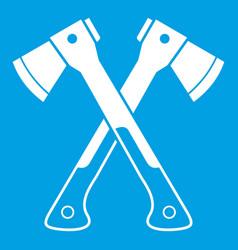 Crossed axes icon white vector