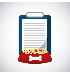 Document and dog food icon Pet shop design vector image vector image