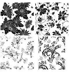 flor seamless set vector image