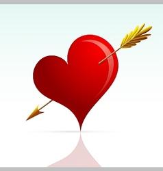 Heart shape with arrow vector image vector image